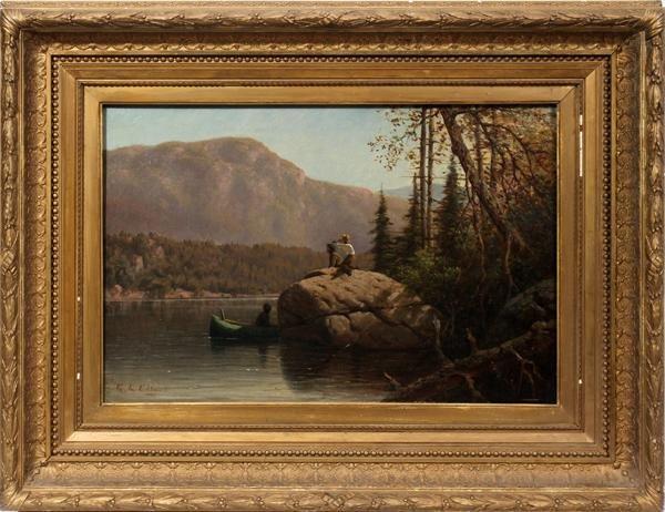 "112001: GEORGE LAFAYETTE CLOUGH OIL ON CANVAS 16"" X 24"""