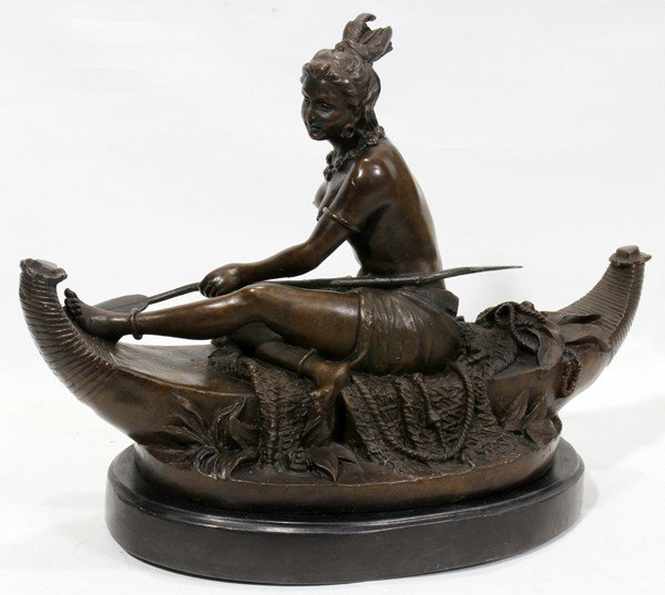 "120024: AFTER DUCHOISELLE, BRONZE SCULPTURE, H 13"","