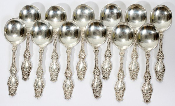 121017: WHITING DIV. OF GORHAM LILY STERLING SPOONS 12