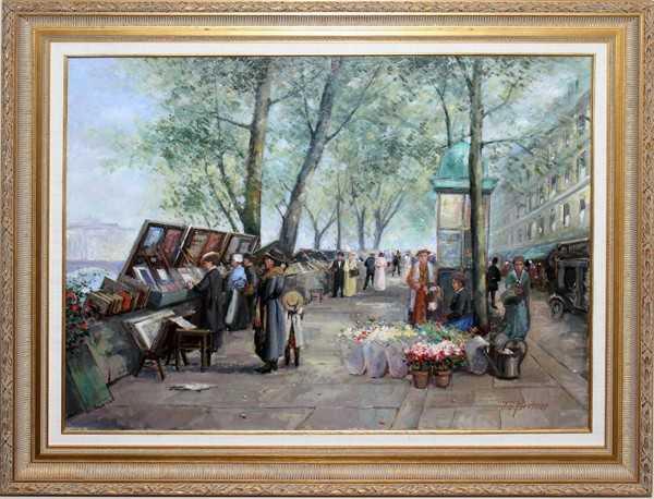 121387 J J Hovener 20th C Oil Painting 24 Quot X 32 Quot