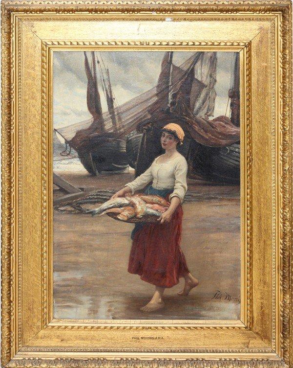 122002: PHILIP RICHARD MORRIS, A.R.A., OIL ON CANVAS,