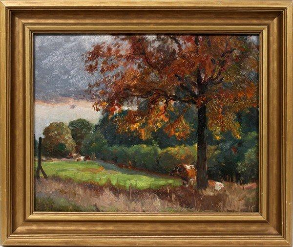 122022: MATHIAS ALTEN, OIL ON ARTIST BOARD, 1918