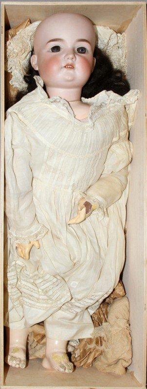 010006: ARMANDE MARSEILLE BISQUE HEAD DOLL, C. 1900,