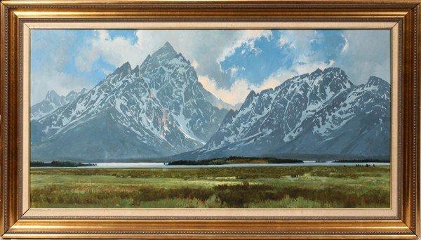 "010011: JIM WILCOX OIL ON MASONITE, 1979, 24"" X 48"","