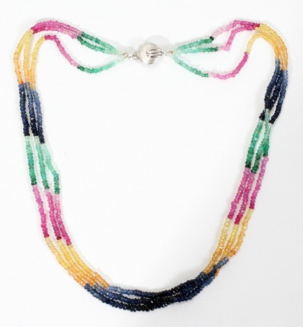 """010020: 65CT. NATURAL BEAD NECKLACE, L 16"""""""