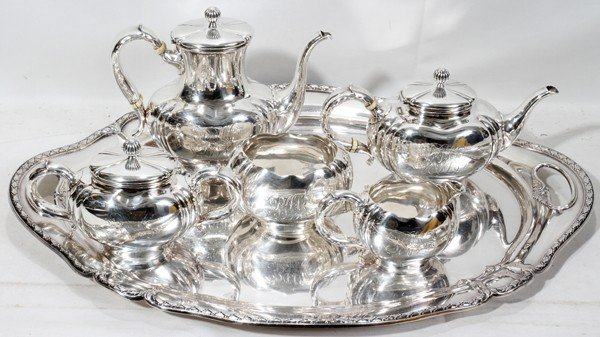 011013: WHITING DIV OF GORHAM STERLING TEA & COFFEE SET