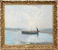 011049: C. W. WYLLIE (1853-1923), OIL ON CANVAS, 1900