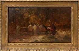 012063: ADOLPHE JOSEPH THOMAS MONTICELLI OIL ON PANEL