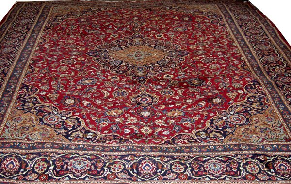 "060013: MASHAD PERSIAN CARPET 9' 10"" X 12' 9"""