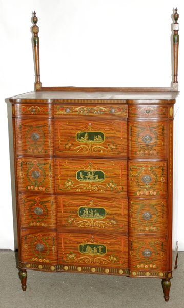 061548: ADAMS STYLE SATINWOOD CHEST OF DRAWERS