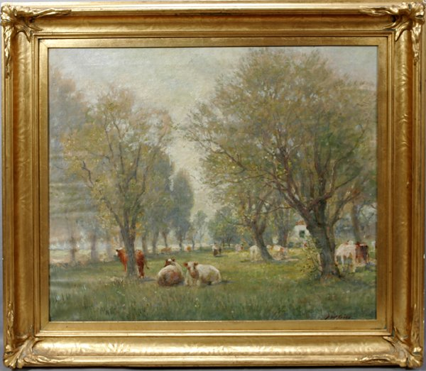 062001: JOSEPH W. GIES, OIL ON CANVAS, ORCHARD