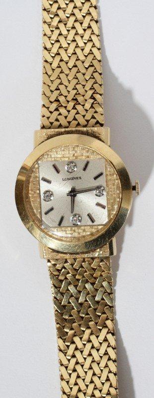 020013: LONGINES 14KT GOLD & DIAMOND GENTLEMAN'S WATCH