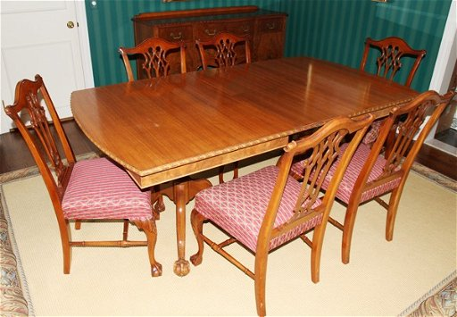 020030 Finch Fine Furniture Co Mahogany Dining Set