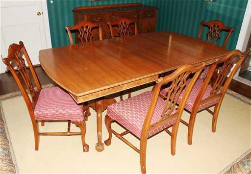 020030 Finch Fine Furniture Co Mahogany Dining Set