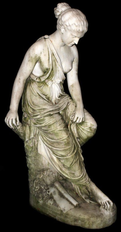166: J.M Lambeaux erotic bronze of 2 women