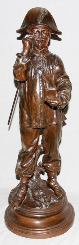 021003: CHARLES CHENIER FRENCH BRONZE SCULPTURE 19TH C.