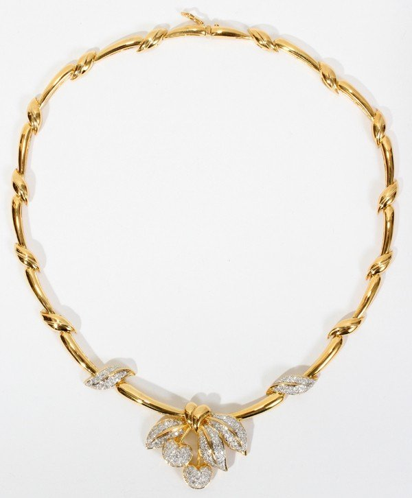 021021: 18KT GOLD & 2.00CT DIAMOND T.W. NECKLACE