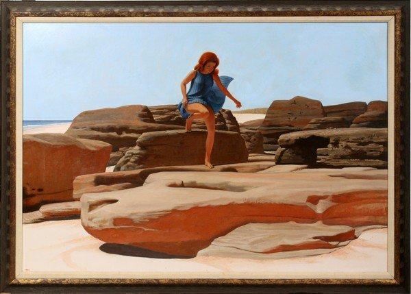 022009: JOSEPH JEFFERS DODGE, OIL PAINTING ON CANVAS