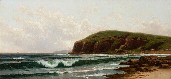 "022016: ALFRED THOMPSON BRICHER, OIL ON CANVAS, 18"""