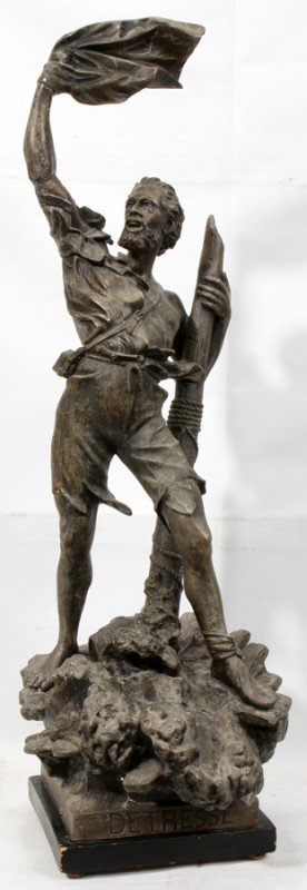 030014: AFTER ARTHUR WAAGEN, SPELTER SCULPTURE, C. 1900