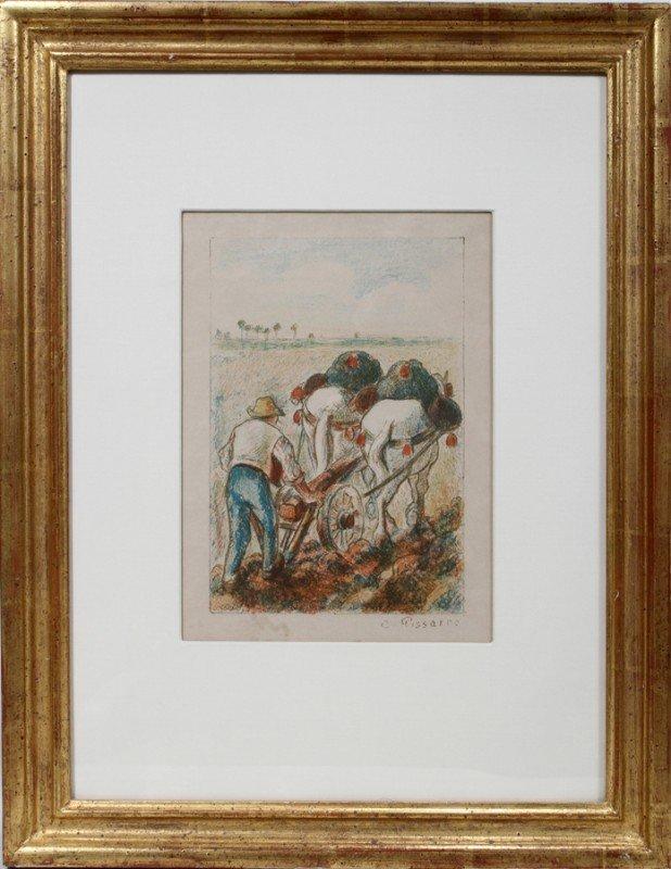 032014: CAMILLE PISSARRO, COLOR LITHOGRAPH, 1901,
