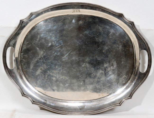 032115: RICHARD M. WOODS & CO., NYC, STERLING OVAL TRAY