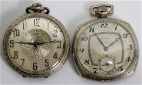 031584 ANTIQUE MENS POCKET WATCHES TWO ELGIN AND