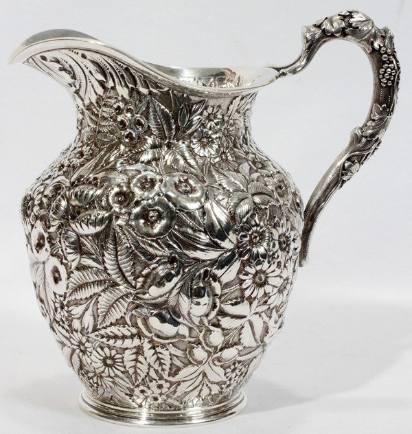 041001: JACOBI & JENKINS STERLING WATER PITCHER