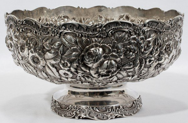 041002: A. JACOBI & CO. REPOUSSE STERLING FRUIT BOWL,