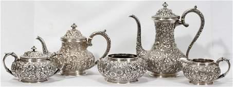 041011: JACOBI & JENKINS STERLING TEA & COFFEE SET,