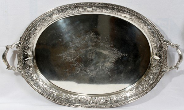 "041014: GORHAM STERLING TRAY, L 31 1/2"" (A9637)"