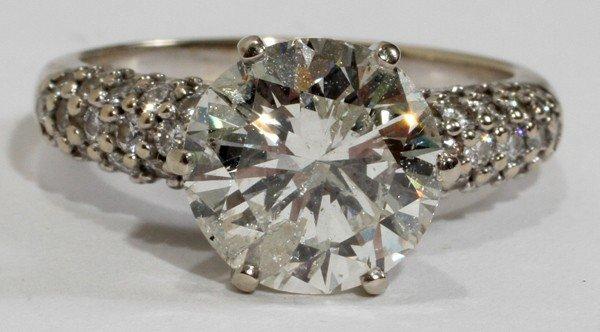 042031: 3.28 CT. DIAMOND RING, 14KT GOLD, GIA CERT