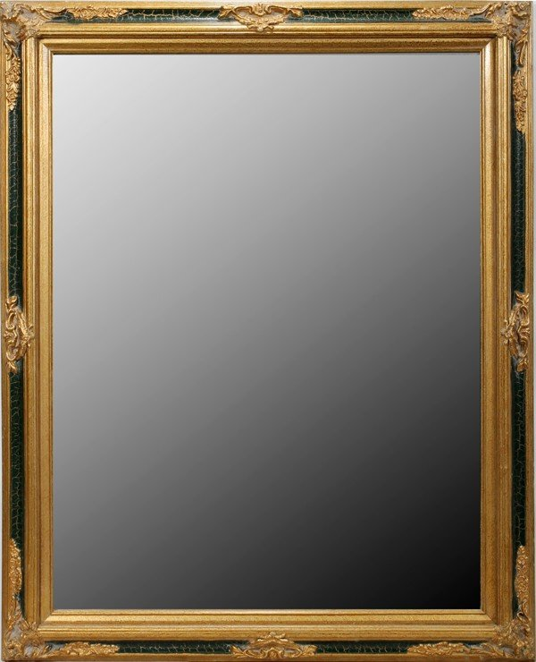 050176: TRADITIONAL STYLE GESSO & BEVELED GLASS MIRROR