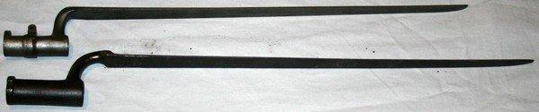 050223: SPRINGFIELD & BRITISH SOCKET BAYONETS, 19TH C,