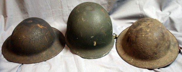 050229: WW1 & WW2 U.S. ARMY HELMETS