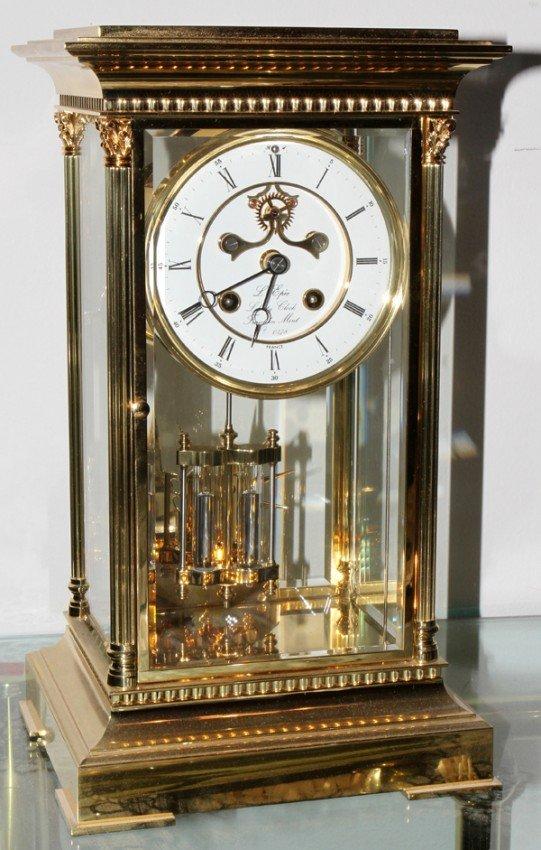 "051525: LIBERTY BRASS MANTEL CLOCK, H 13"""