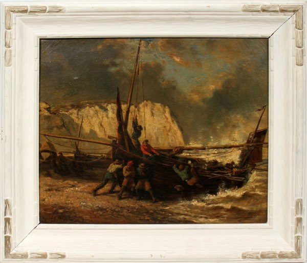 052002: LOUIS GABRIEL EUGENE ISABEY, OIL ON CANVAS 1803