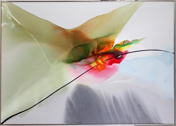 "052021: PAUL JENKINS, ACRYLIC, 47"" X 67"", 1969,"