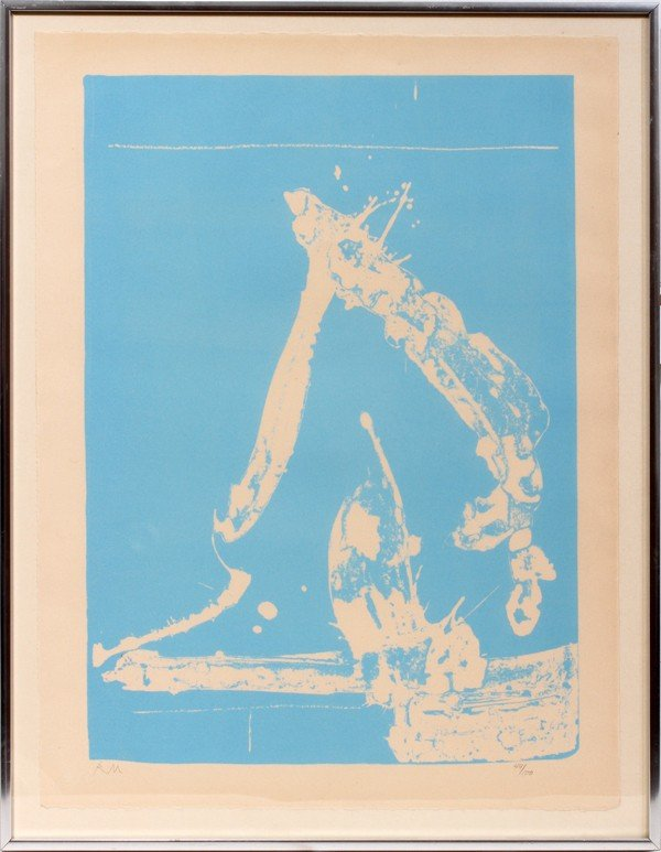 052022: ROBERT MOTHERWELL COLOR LITHOGRAPH 19.6 X 14.4