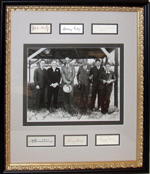 070024: PHOTO & AUTOGRAPHS OF FORD, EDSEL, BENSON