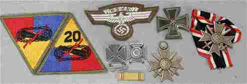 070228: WWII MILITARY MEDALS & PATCHES