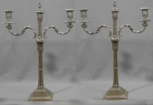 071019: ENGLISH ELECTROPLATE CANDELABRA