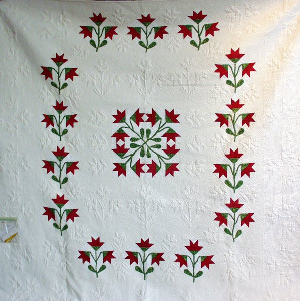 071297: MICHIGAN, GHOST OF THE LILLY PATTERN QUILT