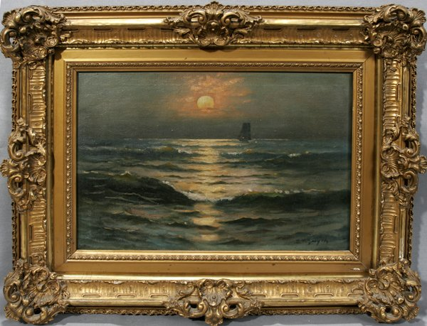 072001: EUGENE LESLIE SMYTHE, OIL ON CANVAS, SAILBOAT