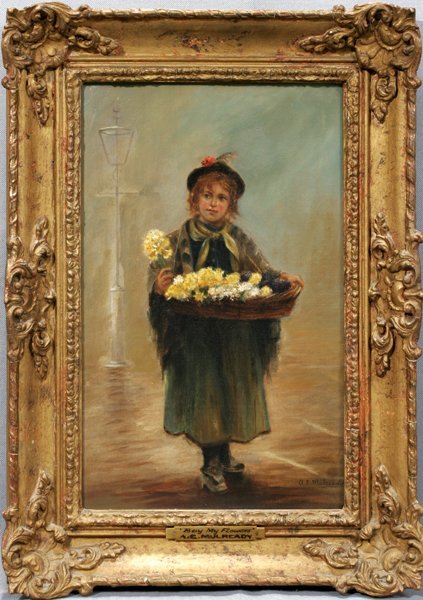 072003: A. E. MULREADY JR., OIL ON CANVAS, MY FLOWERS