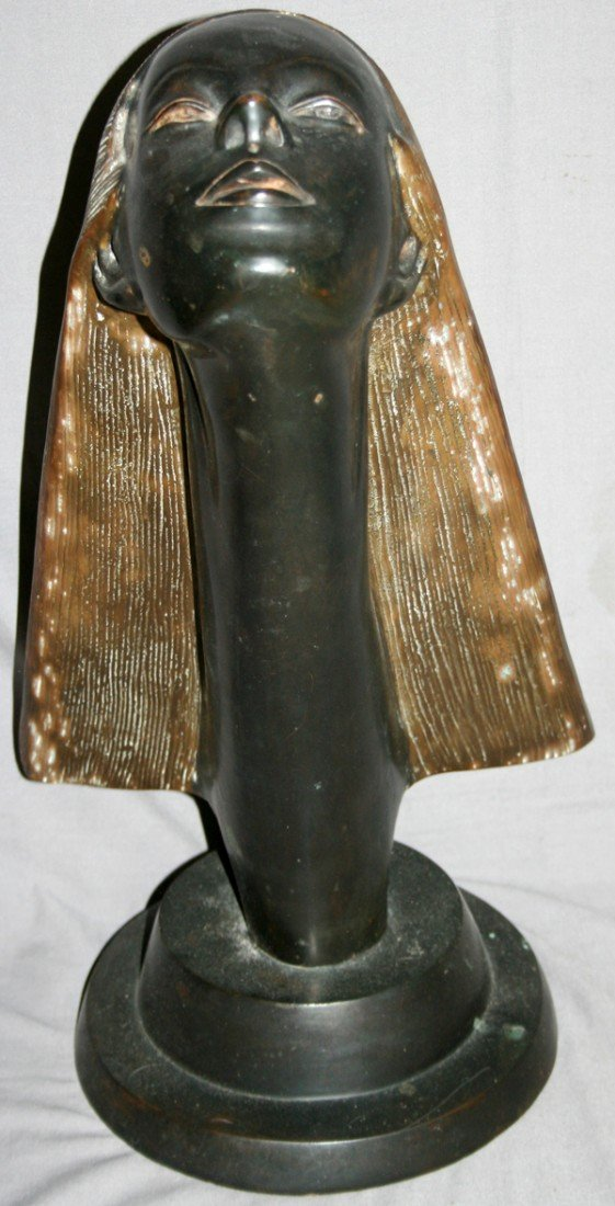 "060010: ART DECO STYLE SCULPTURE, UNSIGNED, 20"" X 11"""