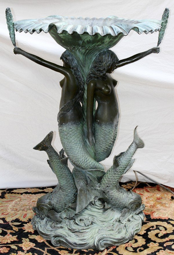 "060012: AFTER AUGUST MOREAU, BRONZE FOUNTAIN, 61"" X 43"""