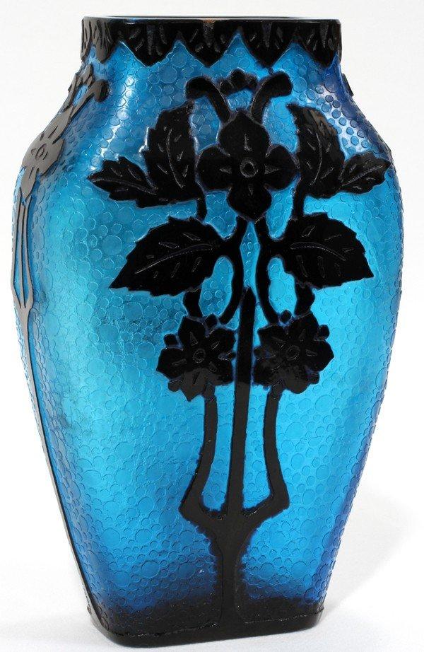 061006: STEUBEN ACID CUT-BACK GLASS VASE, C. 1925,