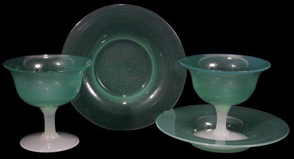 061018: STEUBEN JADE & ALABASTER GLASS SHERBETS