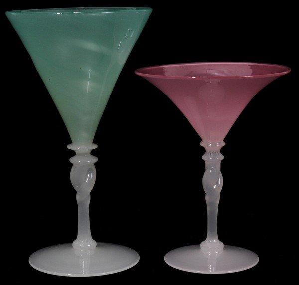 061019: STEUBEN JADE, ROSALINE GOBLET & WINE,